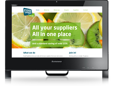 Screenshot of Food Trade Direct